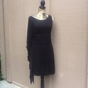 NWT Sz L Max Studio Black Midi Dress